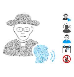 Line collage believer confession icon vector