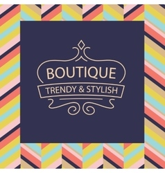 Logo for boutique clothing accessories vector
