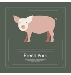 Logotipe of fresh pork vector image