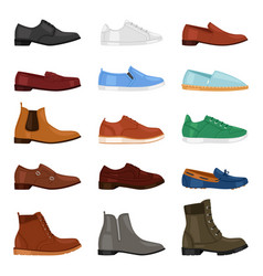 Man shoe fashion male boots and classic vector