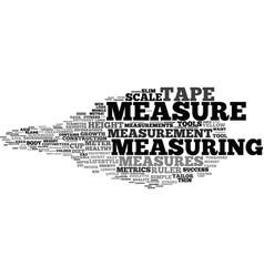 measures word cloud concept vector image
