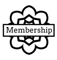 Membership stamp on white vector