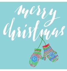Merry Christmas Handdrawn lettering for Christmas vector