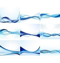 Modern waves vector