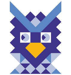 Mosaic style colorful owl vector