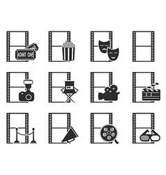 Movie film icons set vector