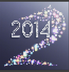 new year background 2014 horse in the form vector image