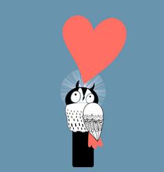 Owl lovers vector