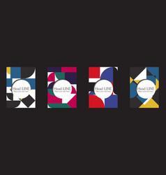 retro geometric covers design eps10 vector image