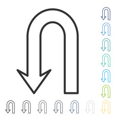 Return arrow icon vector