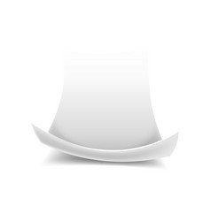 scroll empty or blank paper sheet with curled edge vector image