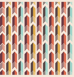 seamless colorful pattern of arrows vector image