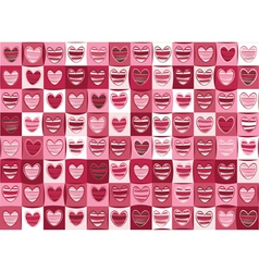 seamless pattern of hearts for valentine day vector image