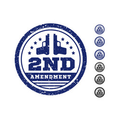 Second amendment to the us constitution vector