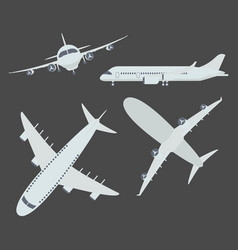 Set of aircraft airplane vector