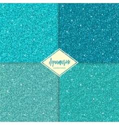 Set of aquamarine seamless texture vector image