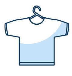 Shirt hanging in the laundry vector