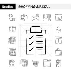Shopping hand drawn icon pack for designers and vector