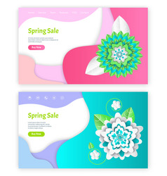 spring sale shopping service with origami vector image