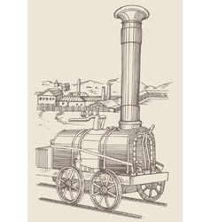 Steam locomotive Cherepanovs vector