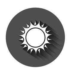 sun icon summer sunshine with long shadow sun vector image