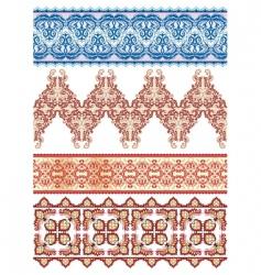 textiles patterns vector image