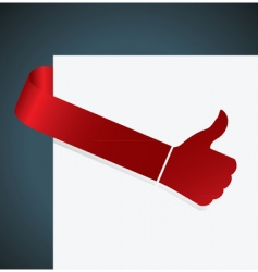 Thumb up tag vector