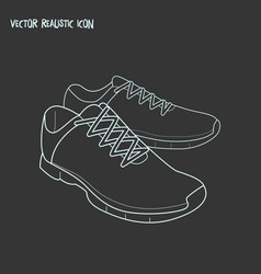 trainer shoes icon line element vector image