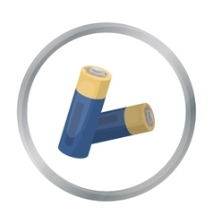 Used batteries icon in cartoon style isolated on vector