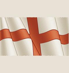 vintage flag england close-up background vector image