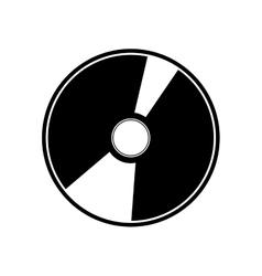 vinyl disc icon vector image