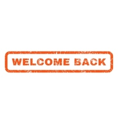 Welcome Back Rubber Stamp vector