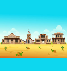 western country landscape or street view scenery vector image