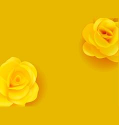 Yellow flowers realistic summer decor vector
