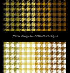 Yellow lumberjack pattern collection vector