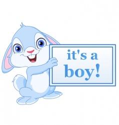 boy arrival card vector image