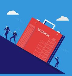 businessmen pulling vector image