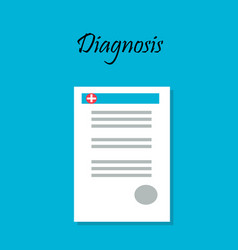 diagnosis card or patient profile vector image