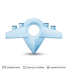 location pin with wings vector image
