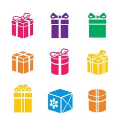 set of colorful gift box vector image vector image