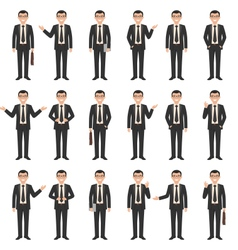 young businessman set vector image vector image