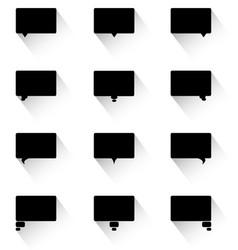 dialog bubbles flat design vector image vector image