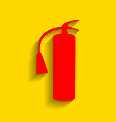 fire extinguisher sign red icon with soft vector image