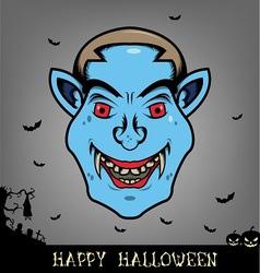 Halloween dracula head vector image