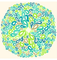 Moroccan tiles ornaments in blue and white colors vector