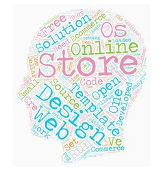 The future of ecommerce store development text vector