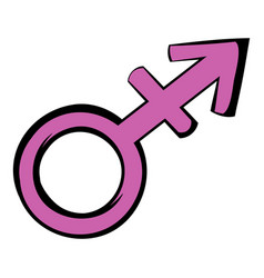 transgender sign icon icon cartoon vector image