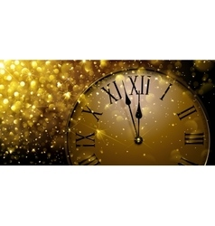 Twelve o Clock on New Year s Eve vector image vector image