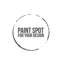 brush round stroke of black paint vector image