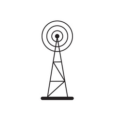 cell phone tower icon vector image